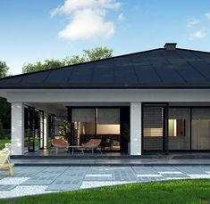 Top Landscaping Companies Near Me Modern Bungalow House, Bungalow House Plans, Home Building Design, Home Garden Design, House Plans Mansion, Dream House Plans, Rustic House Plans, Modern House Plans, House Front Design