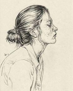 """Messy"" (2015), by Polish artist Daria Golab @dariaesste #art #illustration #drawing #graphite #graphiteart #pencilart #pencilonpaper #lapiz #portrait #portraitofawoman #profile #awomansface #blackandwhite #visage #retrato #cara #arte #kunst #dessin #desenho #disegno #dibujo #рисунок #예술 #艺术 #アート #polishartist #dariagolab #messy"