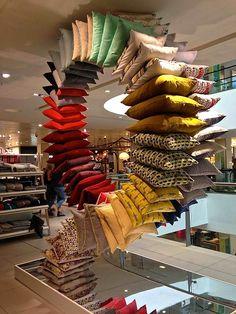 VM choice: John Lewis loop the loop cushions - Retail Design World Showroom Design, Showroom Ideas, Exhibition Room, Retail Concepts, Retail Store Design, Pop Design, Visual Merchandising, John Lewis, Decorative Throw Pillows