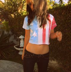 American flag Crop Top. $18.00, via Etsy.