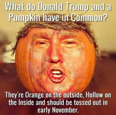 Frightfully Funny Halloween Memes and Cartoons: Trump and a Pumpkin