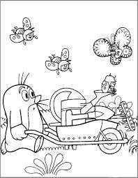 Výsledek obrázku pro omalovánky krteček Cute Coloring Pages, Coloring Sheets, Coloring Books, Cicely Mary Barker, Metal Embossing, Favorite Pastime, Mole, Easy Drawings, Origami