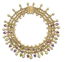 A gold and gem-set 'Naturalia' necklace, by Bulgari,