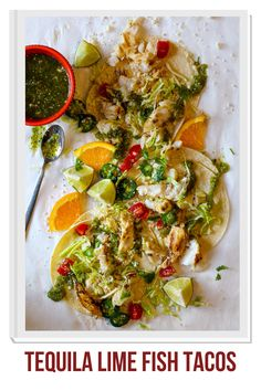 Bring a little excitement to your next Taco Tuesday with these grilled cod fish tacos. Cod fish gets a quick marinade in lime juice, orange juice, chili powder and tequila. Grilled, these tacos are tender and flaky these tacos are finished with a roasted tomatillo salsa. Easy and fresh fish taco recipe. #fishtacos #tacos #dinnerideas #cod #recipe