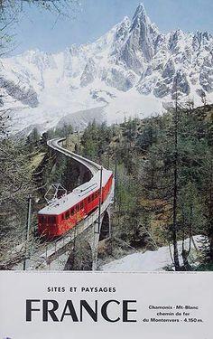 DP Vintage Posters - France Sites and Landscapes Chamonix Mt Blanc Original…