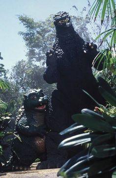 Godzilla and Godzilla Jr.