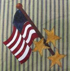 Flag That I Love Applique  PDF Pattern for by quiltdoodledesigns