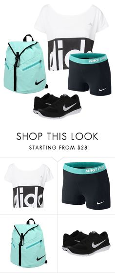 """""""Dance Practice"""" by chevron-elephants ❤ liked on Polyvore featuring adidas, NIKE and SummersTopSet"""