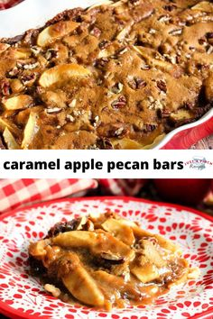 ooey gooey caramel apple pecan bars Fall Dessert Recipes, Apple Cake Recipes, Pecan Recipes, Fall Desserts, Fall Recipes, Drink Recipes, Caramel Apple Bars, Caramel Apples, Captain America Birthday Cake