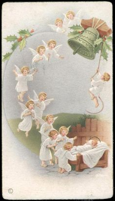 Vintage Christmas Cards, Christmas Images, Christmas Angels, Christmas Art, Christmas Greetings, Xmas, Angel Images, Angel Pictures, Mary And Jesus