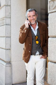 On the Street…Alessandro S., Milan - The Sartorialist Love Salt and Peppered men ...with style :)   xo