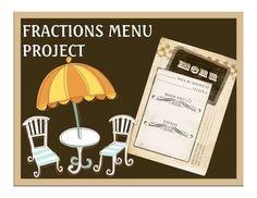 Fractions Menu Project - CCSS