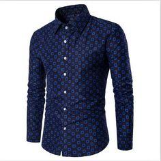 2017 Winter Autumn Luxury Men Shirt New Brand Mens Shirts Fashion Long Sleeve Slim Fit Checkered Plaid Shirts Men's Dress Shirt