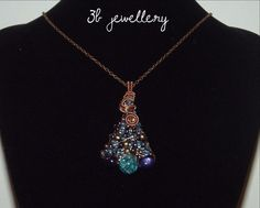 #turquoise #violet and #bronze #tree #pendant #3bjewellery #wirewrapping #GettingBetter