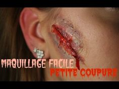 Maquillage d\u0027Halloween facile , Petite blessure (sans latex)