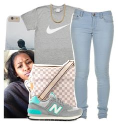 """""""- I'll hold you down"""" by dopefashion001 ❤ liked on Polyvore featuring Louis Vuitton, Marc by Marc Jacobs and New Balance"""