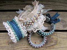 This is one of my favorites: lace cuff bracelet from recycled materials!