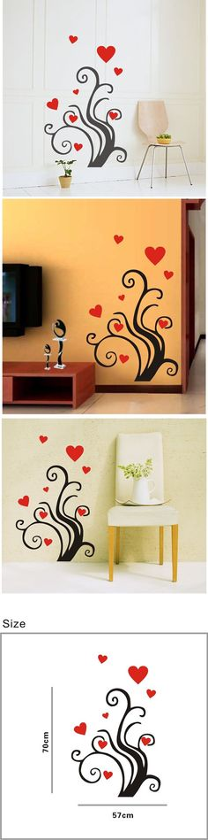 Tree Heart wall decallove tree wall by Clarkwallartdecal on Etsy