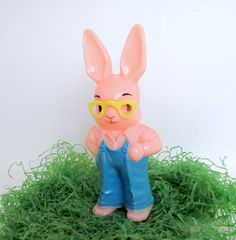 Vintage Hard Plastic Easter Bunny Rattle Toy by teresatudor, $8.50