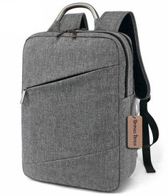 Bronze Times(TM) Unisex 15.6 inch Canvas Scratch-resistant Laptop Backpack Bag A-Gray. Material: washable canvas. External Dimensions: 41cm*28CM*10cm, fits up to 15.6 inch computer/laptop. Please note there might be 1-3cm error measurement. Capacity: laptop/computer/notebook plus the chargers and mouse,tablet, iPad,pen, wallet cell phone etc. Function:a multipurpose backpack for school, excursion,trip,commuting, and busienss etc. Tips: two ways of wearing easily1)hand-carry and 2) by...
