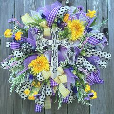Everyday Wreath All Season Wreath Door Hanging by BaBamWreaths