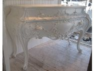 Gorgeous white vintage Bombay chest...I want one!