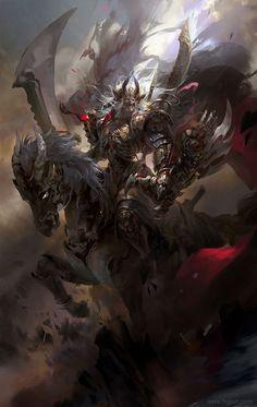 """scifi-fantasy-horror: """"by Guangjian Huang """" Dark Fantasy Art, Fantasy Artwork, Monster Art, Fantasy Monster, Fantasy Character Design, Character Design Inspiration, Character Art, Fantasy Warrior, Fantasy Inspiration"""