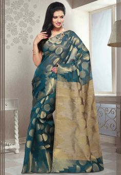 Royal Blue Pure Chanderi Silk Saree with Blouse