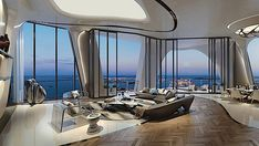 Image 18 of 33 from gallery of Structural Design of Zaha Hadid& 1000 Museum Revealed in CAD Drawings. Photograph by Zaha Hadid Architects Luxury Penthouse, Luxury Condo, Luxury Homes, Architectes Zaha Hadid, Zaha Hadid Architects, Zaha Hadid Interior, 432 Park Avenue, New Condo, Madison Avenue