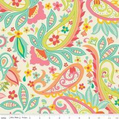 Fabric for O's curtains?  Riley Blake Designs - 2015 Designer Home Dec - Sweet Main Home Dec in Cream