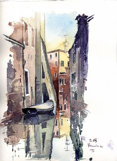 Tony Belobrajdic | Venice | pencil+watercolor
