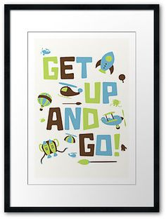 Get Up And Go (blue, green, brown)