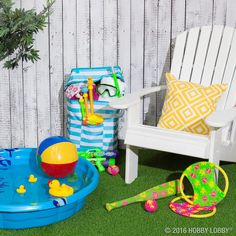 Summer is almost here! Get ready for major outdoor fun with toys and pool accessories.