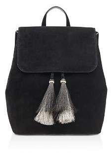 a0d7be3303ba Loeffler Randall Suede Backpack. Top handle