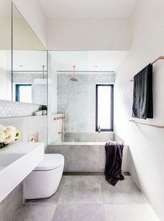 Mixing architecture and interiors, Alexander and Co have simple, clean spaces covered. Bathroom Renos, Laundry In Bathroom, Bathroom Renovations, Bathroom Interior, Small Bathroom, Australian Interior Design, Luxury Homes Interior, Best Interior Design, Interior Design Living Room
