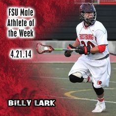 Instagram user @frostburgsports wants to congragulate Billy Lark on being named Male Athlete of the Week! #instaFrostburg