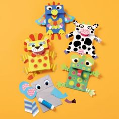 Paper Bag Puppet kits - these are from Land of Nod, but you could make a set with foam/felt stickers, glue and paper bags.