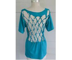 Tutorial: No-sew lattice back t-shirt