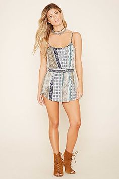 Abstract Floral Romper-$15.90