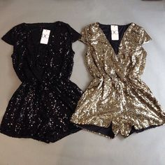 Bling It On Sequin Romper - Gold ARRIVES SOON! SIGN UP FOR ARRIVAL ALERT! #ashleniqapproved