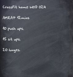CrossFit home WOD - good workout for a quickie