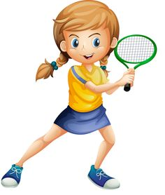 """Photo from album """"Теннис"""" on Yandex. Theme Sport, Tennis Lessons, Sports Clips, School Clipart, Good Day Song, Cartoon Pics, Girl Cartoon, Kids Sports, Caricature"""