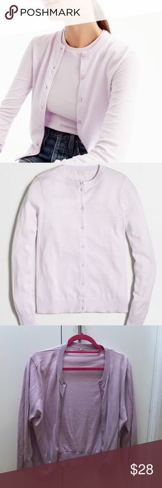J. Crew Cardigan 100% Cotton. Good condition. Last two pics show two very slight pills. Pics 1-2 stock, other pics of actual item J. Crew Sweaters Cardigans