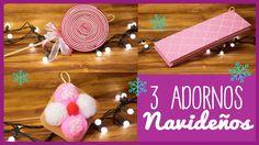 Adornos Navideños - 3 Ideas - Decorar tu Árbol de Navidad - con Dulces y...