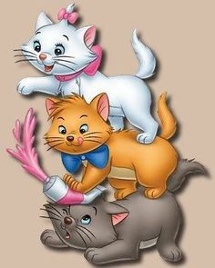 *MARIE, TOULOUSE & BERLIOZ ~ The Aristocats, 1970