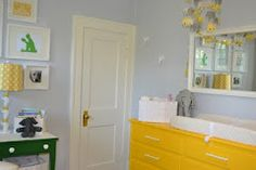 bright yellow painted dresser - love
