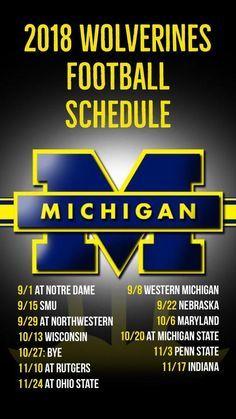 2019 Michigan Wolverines Football Schedule Printable Michigan Wolverines Football Michigan Wolverines Football Schedule Wolverines