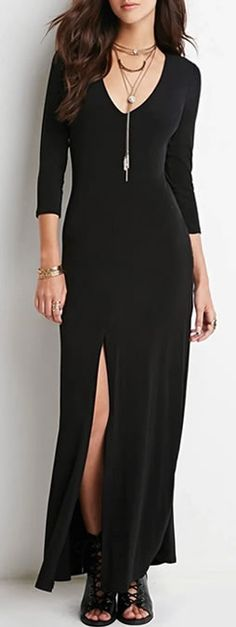 Black Maxi Dress - Great for date night!