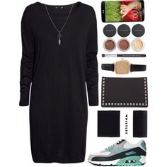 I was busy with my exams. Now I am back by mpociute on Polyvore featuring H&M, NIKE, Pieces, Topshop, ASOS and Bare Escentuals