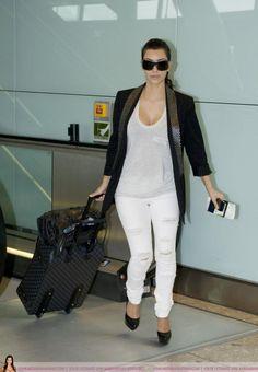 White Pants - Kim Kardashian
